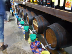 Barrels with Liqueur on Mallorca